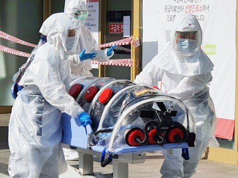 South Korea on 'highest alert' for coronavirus after five deaths and 556 cases