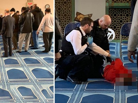 Knifeman storms London mosque and 'stabs man during call to prayer'