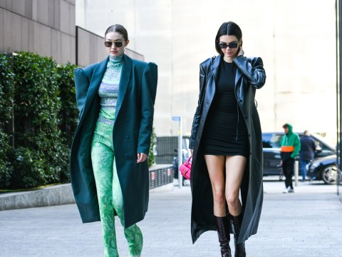 Kendall Jenner and Gigi Hadid power dress for lunch in Milan and we guess 90s shoulder pads are back