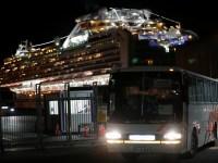 A bus transport British passengers after they left the coronavirus-hit cruise ship Diamond Princess at the Daikoku Pier Cruise Terminal in Yokohama, south of Tokyo, Japan February 21, 2020. REUTERS/Kim Kyung-Hoon