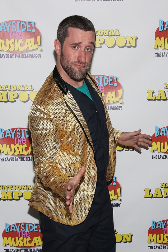 Actor Dustin Diamond in a suit