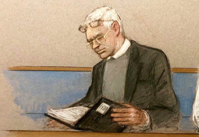"**TV OUT** Artists impression of Julian Assange wearing two pairs of glasses whilst appearing at Woolwich Crown Court, London, today, February 24, 2020. Julian Assange ""put lives at risk"" by disseminating classified materials through WikiLeaks, a lawyer representing the US has said on the first day of extradition hearings. In his opening statement, James Lewis told Woolwich Crown Court the actions of the WikiLeaks founder had helped to identify informants that had aided the US in the wars in Iraq and Afghanistan. It put those revealed in the report at ""risk of serious harm, torture, or even death,"" he said."