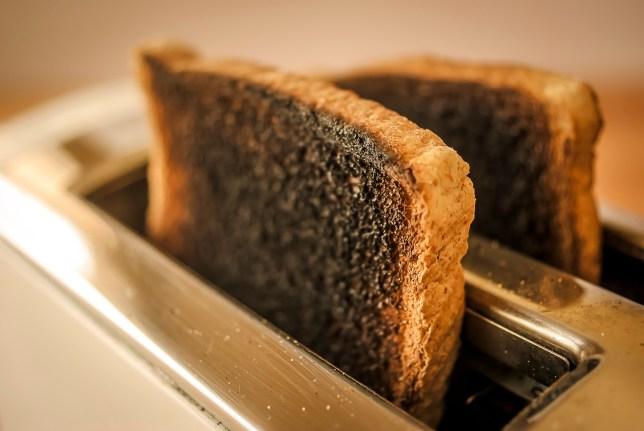 File photo of burnt toast