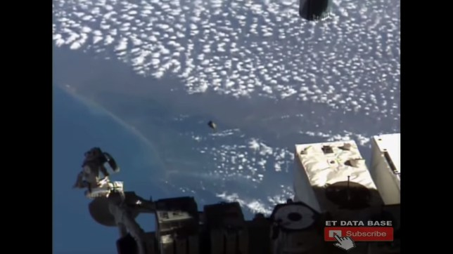 NASA officials 'baffled' after space cameras catch UFO following ISS for over 20 minutes A BIZARRE UFO hovering between Earth and the International Space Station was caught on a live camera feed by NASA in incredible footage that lasts over 20 minutes.