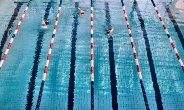 People in a swimming pool