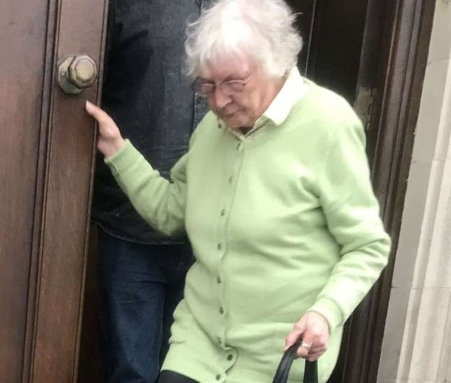 "Catherine Searle pictured leaving court. See National News story NNparrot. A nightmare neighbour ""used her parrot as a weapon"" in a campaign of harassment against a couple. Over the last three years, Catherine Searle, 81, has thrown dog poo into her neighbours' garden, scratched their car, and encouraged her rambunctious parrot to disturb them in the garden with singing. Her victim's described the bird's operatic repertoire to ""Chinese torture."" The widow was caught on CCTV 38 times as she smeared grease over the bonnets of her neighbours Paul and Lydia Appleton's van and car in 2018."