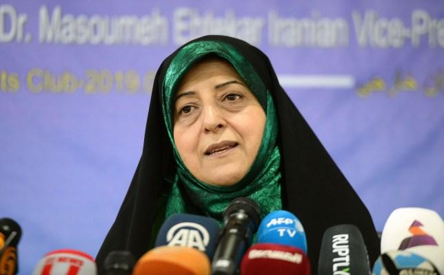 Iranian vice president Masoumeh Ebtekar has contracted coronavirus (Picture: Getty)