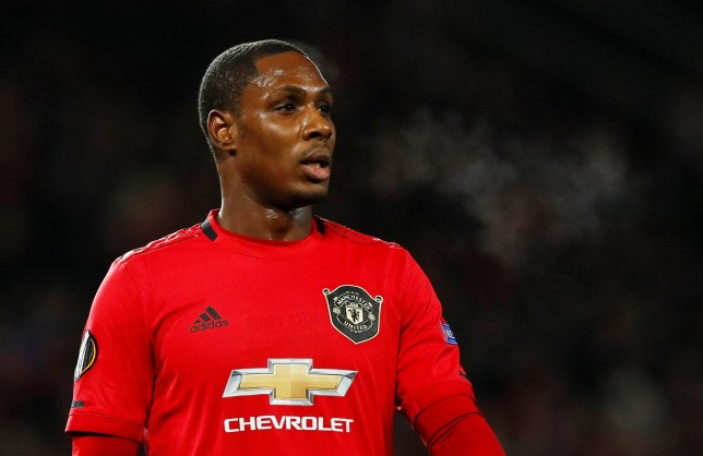 Odion Ighalo is pictured in action for Manchester United