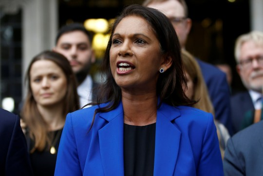 Campaigner Gina Miller talks to the media after the Supreme Court of the United Kingdom hearing on British Prime Minister Boris Johnson's decision to prorogue parliament ahead of Brexit, in London, Britain September 24, 2019. REUTERS/Henry Nicholls