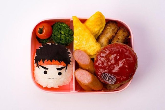 This is Sakura in Bento box form (not Ryu - he's a glass of soda)