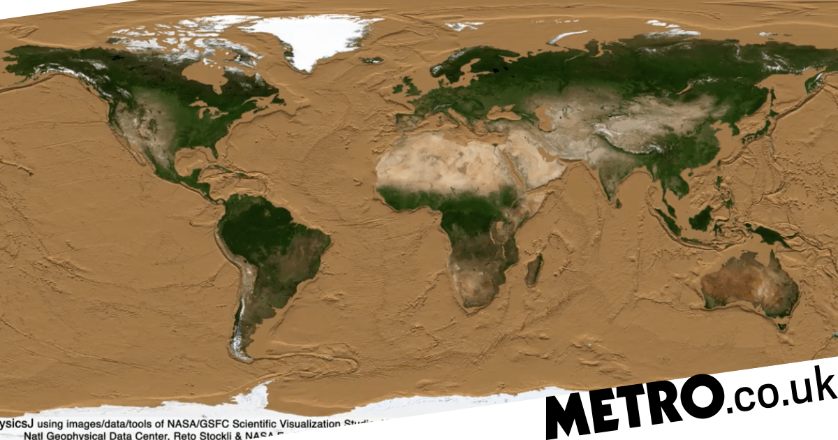 Nasa animation of Earth's oceans draining away reveals humanity's hidden story
