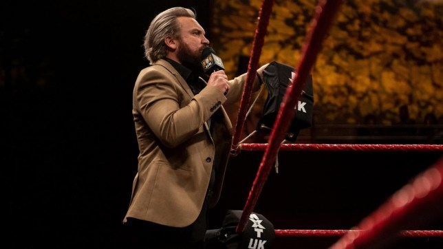 NXT UK wrestler Trent Seven enters the ring