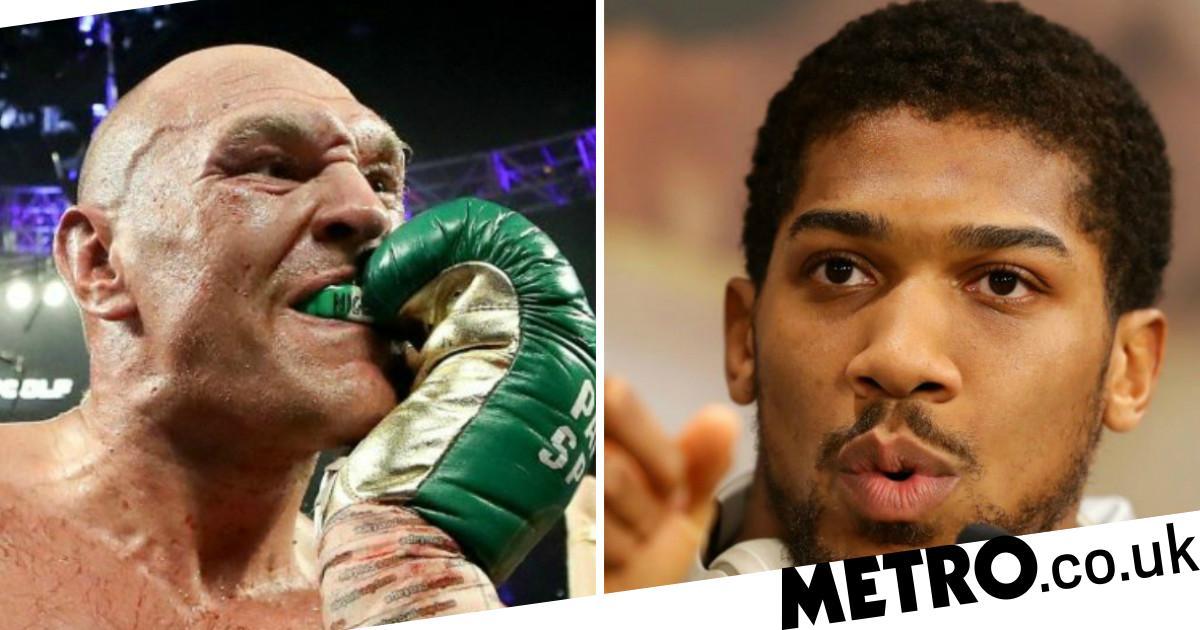 Tyson Fury taunts Anthony Joshua with 'Nigeria' gumshield during Wilder victory