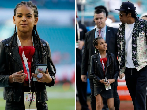 Beyonce? Her assistant? Blue Ivy couldn't stop texting at the Super Bowl and fans have theories who it was