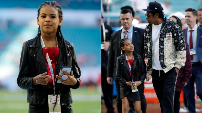Blue Ivy at the Super Bowl