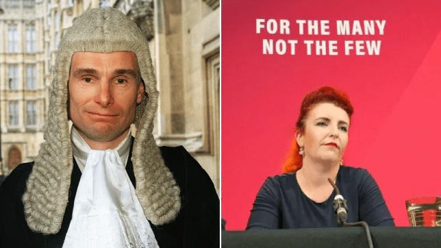 Judge Robin Tolson and Louise Haigh