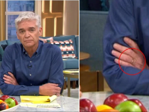 Phillip Schofield still wearing wedding ring as he returns to This Morning after coming out