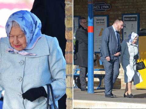 Queen ends Christmas break in Sandringham as she returns to London