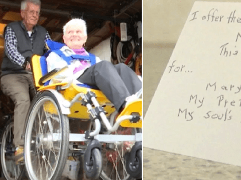 Elderly man writes heartbreaking love notes to try and slow progress of wife's dementia