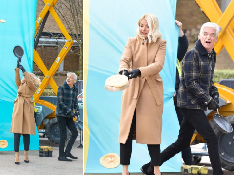 This Morning thrown into chaos after Holly Willoughby and Phillip Schofield try to break pancake flipping record