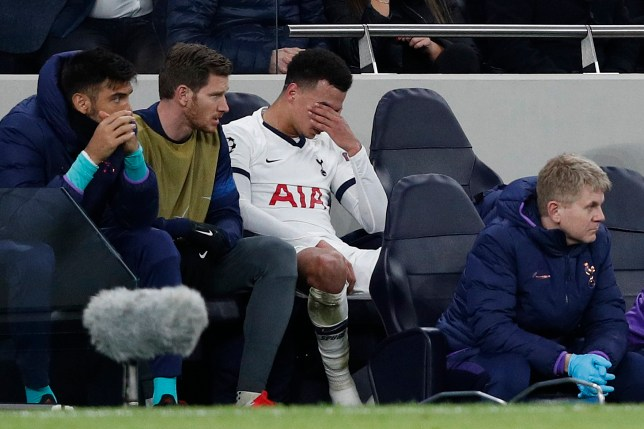 Dele Alli lost his temper after being substituted during Tottenham's clash with Leipzig