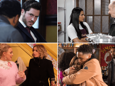 12 soap spoiler pictures: EastEnders confrontation, Coronation Street hospitalisation, Emmerdale revelation, Hollyoaks drugs horror