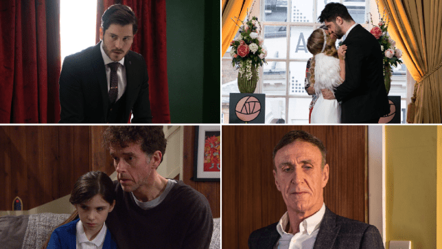 Gray in EastEnders, Adam and Sarah in Coronation Street, Marlon and April in Emmerdale and Edward in Hollyoaks