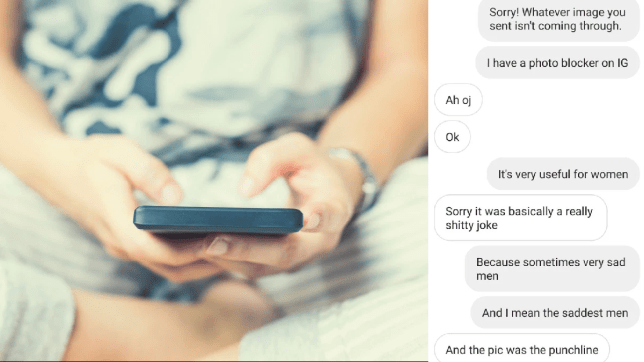 Woman makes up fake app and tells men it sends dick pics to police