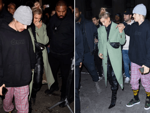 Justin Bieber and Hailey Baldwin have very different ideas of dinner attire after SNL performance