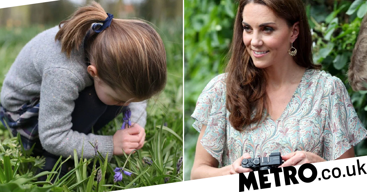 'Hands-on' Kate shares sweet picture of Charlotte smelling flower
