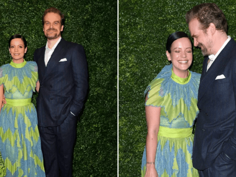 Stranger Things' David Harbour and Lily Allen are the picture of happiness as they party at pre-Bafta bash