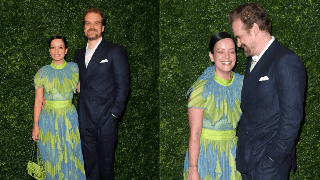 Lily Allen and David Harbour coupled up at Bafta pre-party