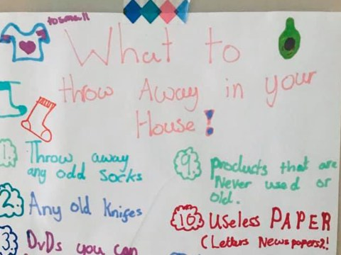 11-year-old girl's list of things to throw away is all the tidying inspiration you need this weekend
