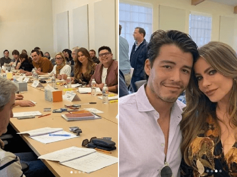 Modern Family's Sofia Vergara gets emotional as cast sit down for last table read ahead of finale