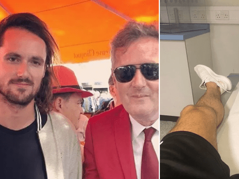 Piers Morgan's son Spencer reveals bloody injury in hospital after 'showboating' during football match