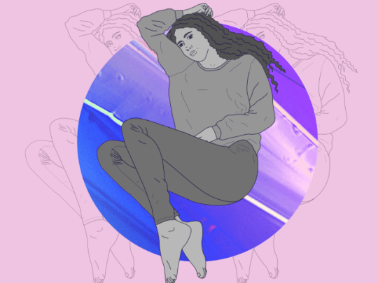 Mental health illustration of a woman
