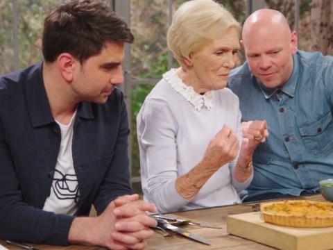 Mary Berry gets savage as she jokes about Tom Kerridge's hair on Best Home Cook
