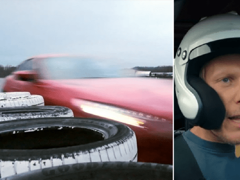 Top Gear: Laurence Fox breaks car as he lands 'fastest speed in the wet' in race against cousin Emilia