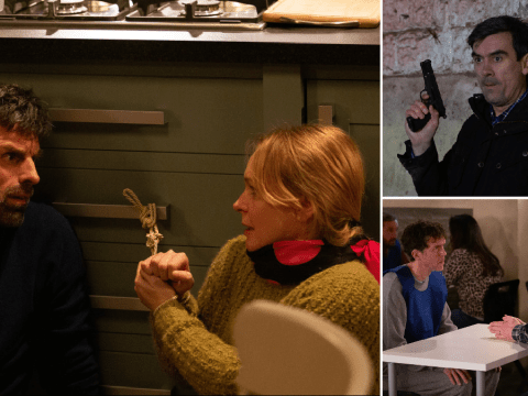 Emmerdale spoilers: 15 new images reveal hostage situation, shooting horror and child danger