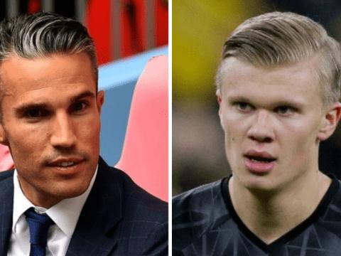 Robin van Persie rates Erling Haaland's start at Borussia Dortmund after Manchester United missed out on striker