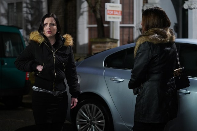 Whitney and Michaela in EastEnders