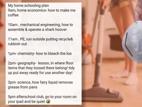 Mum's genius homeschooling plan tricks her kids into doing all the chores
