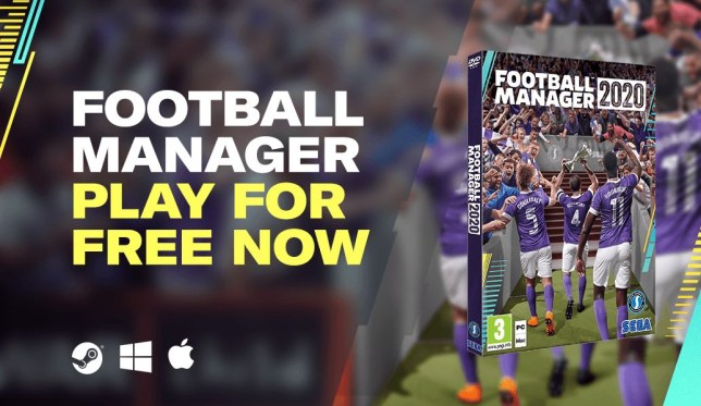 Football Manager 2020 free promotion