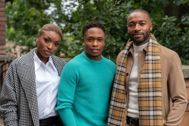 Toby, Celeste and Mitchell in Hollyoaks
