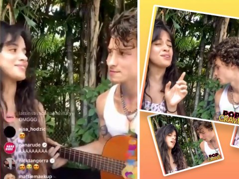 Camila Cabello and Shawn Mendes look loved up as they sing songs in self-isolation