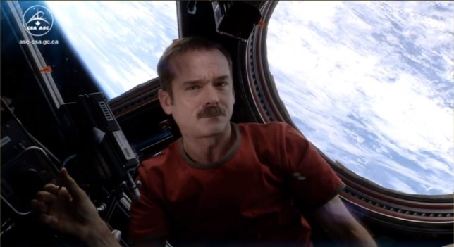 Chris Hadfield spent nearly five months aboard the ISS (CSA)