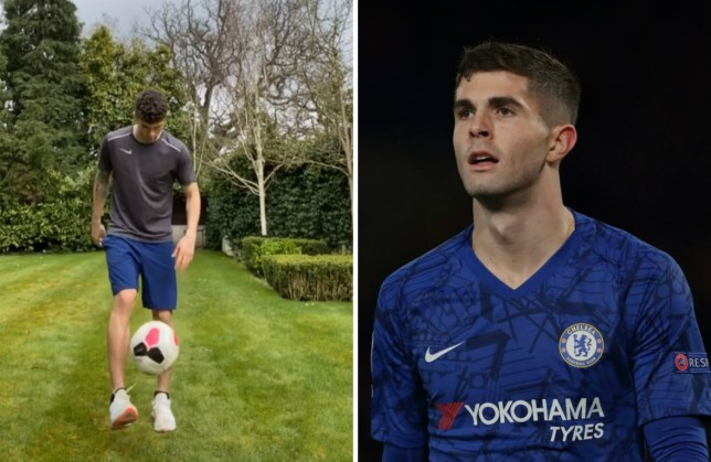Chelsea star Christian Pulisic posts injury update during coronavirus self-isolation