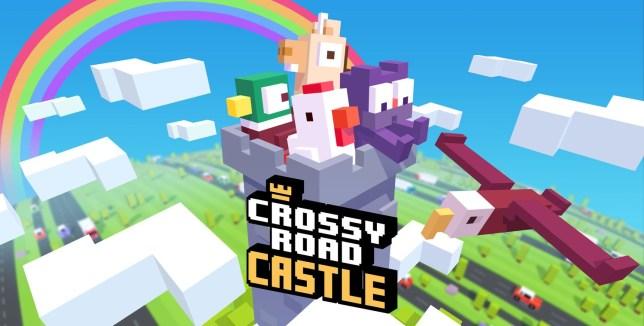 Crossy Road Castle key art