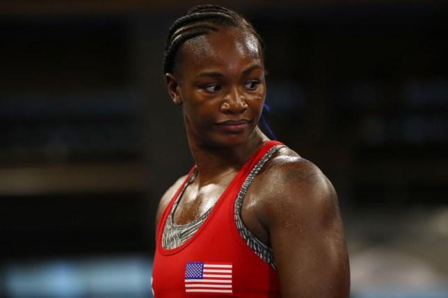 Claressa Shields holds a work out before a boxing fight
