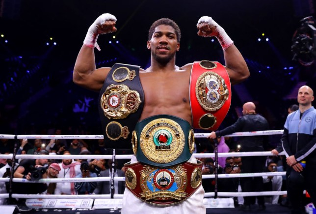 Anthony Joshua is in self-isolation following the coronavirus outbreak
